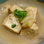 豆腐の煮びたし
