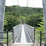 公園とコテージを結ぶ吊橋