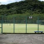 コテージ側テニスコート